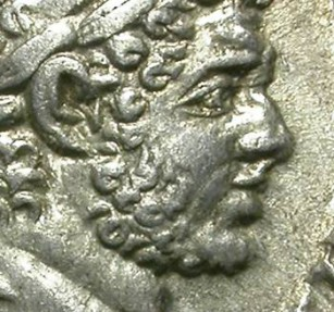 Ancient Coins - CARACALLA. DENAR. EF. IMPRESSIVE DEPICTION OF HERAKLES