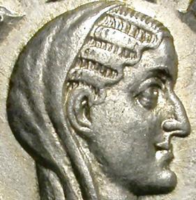 Ancient Coins - DIVA PAULINA. (Wife of Maximinus) AR DENARIUS. AD 235-238. SCARCE AND NICE PORTRAIT.