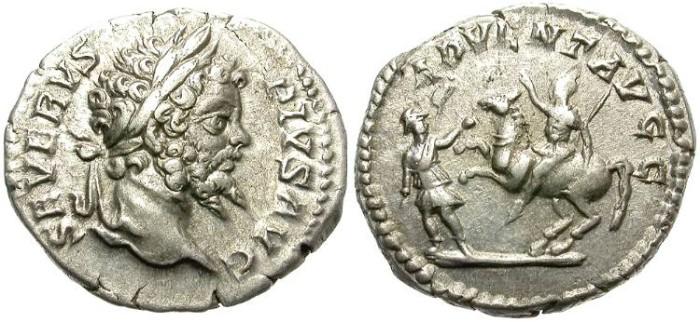 Ancient Coins - SEPTIMIUS SEVERUS. 193-211 AD. SILVER DENARIUS. ROME MINT. INTERESTING REVERSE.