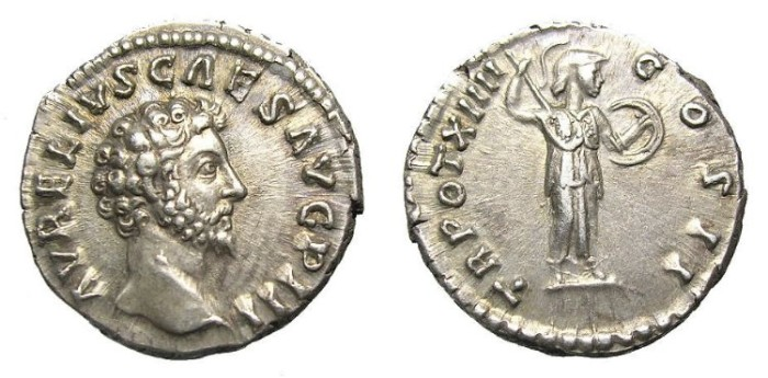 Ancient Coins - MARCUS  AURELIUS  DENARIUS.  GREAT  QUALITY.