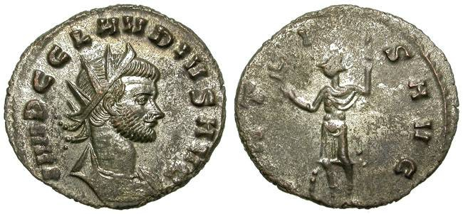Ancient Coins - CLAUDIUS II GOTHIC. AE ANTONINIAN. WITH STILL SOME SILVERING REMAINING