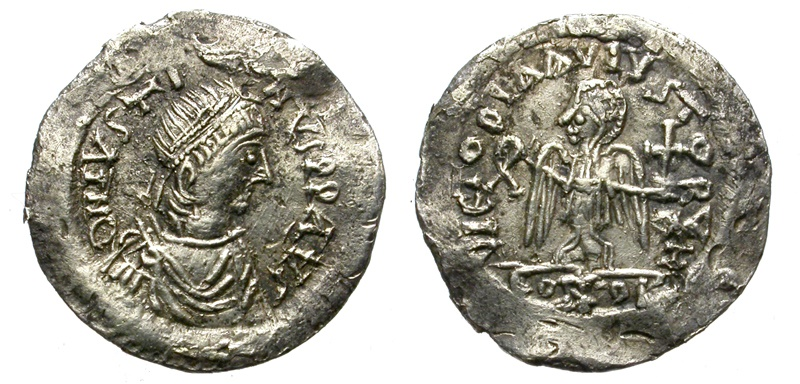 Ancient Coins - UNCERTAIN SILIQUA (?). UNDER THE NAME OF IUSTINUS II. IMITATIVE (?)