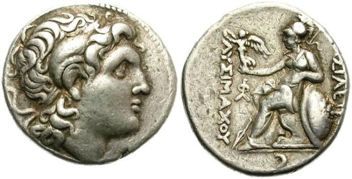 Ancient Coins - LYSIMACHOS. SILVER TETRADRACHM. GOOD SILVER CONDITION