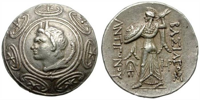 Ancient Coins - ANTIGONOS GONATAS. AR TETRADRACHM. AMPHIPOLIS MINT. NICE AND ATTRACTIVE.