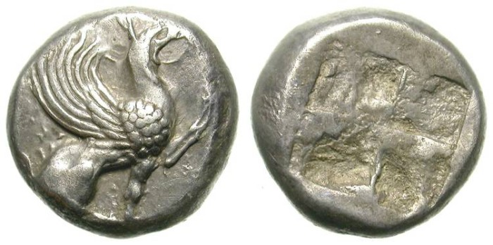 Ancient Coins - TEOS. HALF STATER. RARE AND ATTRACTIVE.