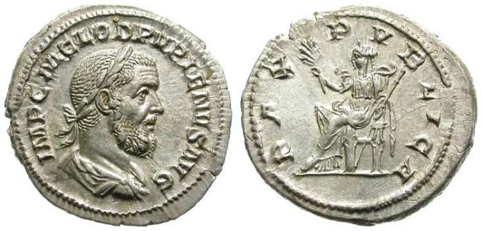 Ancient Coins - PUPIENUS. DENAR. SUPERB PORTRAIT. HIGH QUALITY