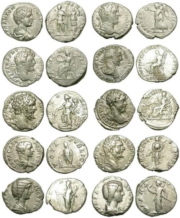 Ancient Coins - LOT OF 10 ECONOMIC ROMAN DENARS. LITTLE QUALITY LITTLE PRICE