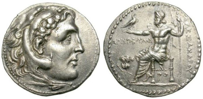 Ancient Coins - ALEXANDER THE GREAT. TETRADRACHM. RHODOS. WONDERFUL PIECE