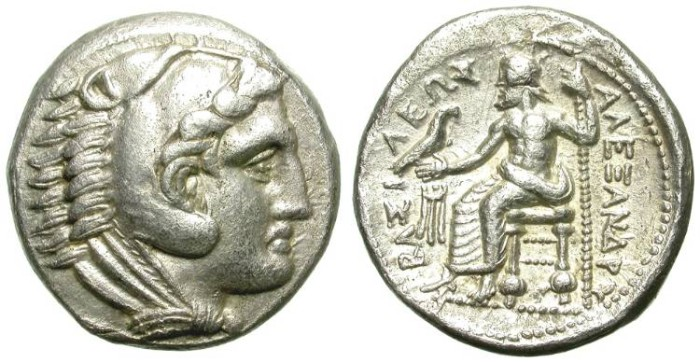 Ancient Coins - ALEXANDER THE GREAT. TETRADRACHM. STRUCK UNDER ANTIPATER
