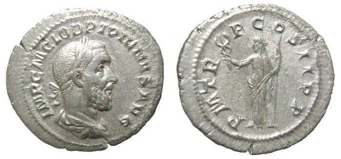 Ancient Coins - PUPIENUS  DENARIUS.  SCARCE.