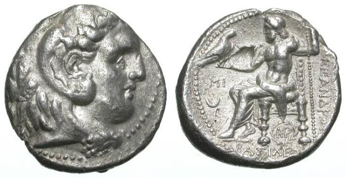 Ancient Coins - ALEXANDER THE GREAT. TETRADRACHM. A VF. BABYLON MINT