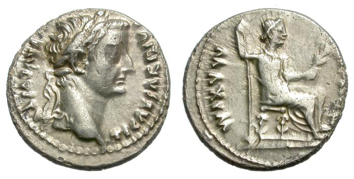 Ancient Coins - TIBERIUS. SILVER DENARIUS. TRIBUTE PENNY. GOOD GENERAL CONDITION. ATTRACTIVE.