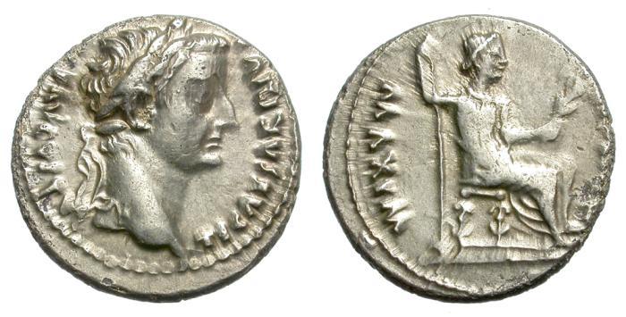 Ancient Coins - TIBERIUS. SILVER DENARIUS. TRIBUTE PENNY. GOOD GENERAL CONDITION. ATTRACTIVE.
