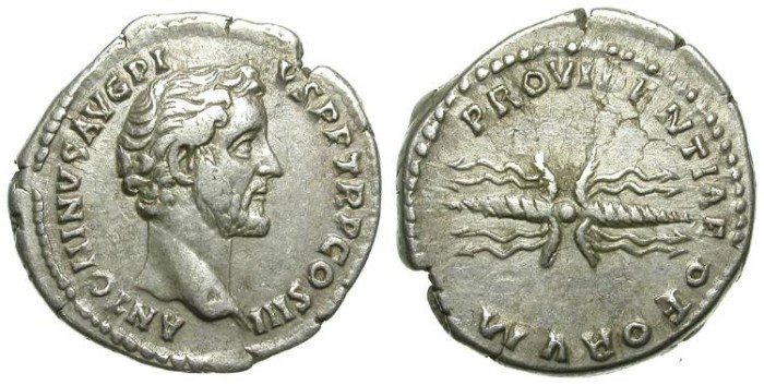 Ancient Coins - ANTONINUS PIUS. SILVER DENAR. SUCH AN ATTRACTIVE REVERSE.