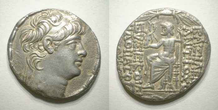 Ancient Coins - ANTIOCH X. TETRADRACHM. GOOD VF. BEAUTIFUL PORTRAIT