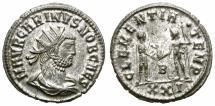 Ancient Coins - CARINUS. 283-285 AD. ANTONINIANUS. CYZICUS. NICE BUST.