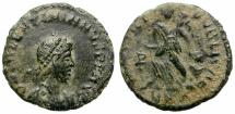 Ancient Coins - VALENTINIAN II. AE FRACTION. INTERESTING SMALL HEAD PORTRAIT