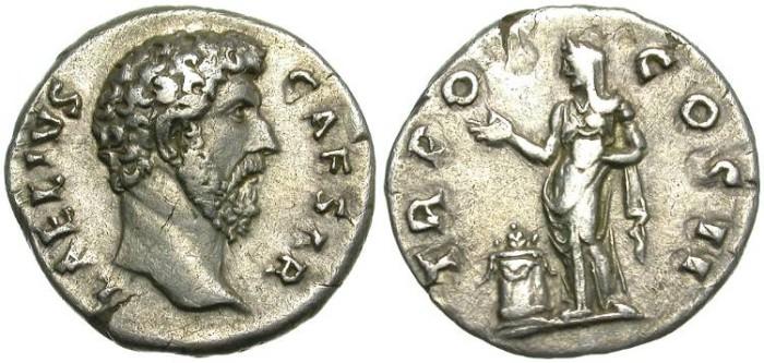Ancient Coins - AELIUS. SILVER DENARIUS. NICE PIECE
