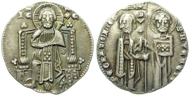 Ancient Coins - VENETIAN KINGDOM. SILVER ISSUE. ATTRACTIVE !