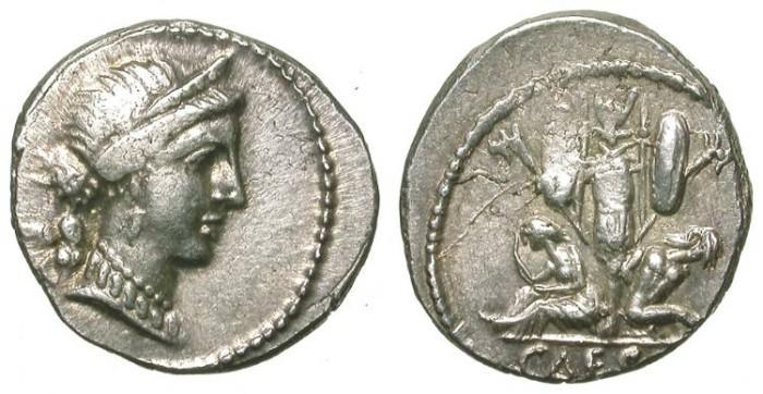 Ancient Coins - JULIUS CAESAR. DENAR. NICE COIN. VERY GOOD METAL