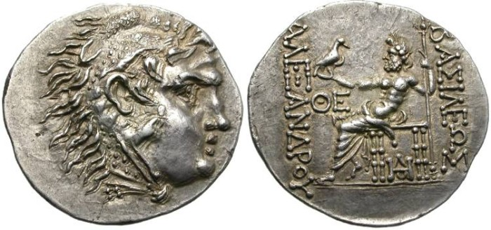 Ancient Coins - ALEXANDER THE GREAT. TETRADRACHM. ODESSOS. POSTHUMOUS ISSUE. AMAZING SHARPNESS !