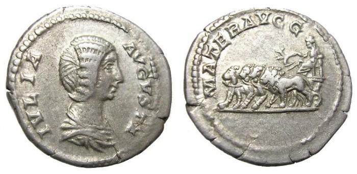 Ancient Coins - JULIA  DOMNA  DENARIUS.  INTERESTING  REVERSE.