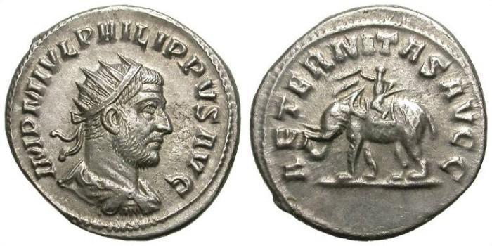 Ancient Coins - PHILIP I. ANTONINIAN. ANTIOCHIA. RARE REVERSE !