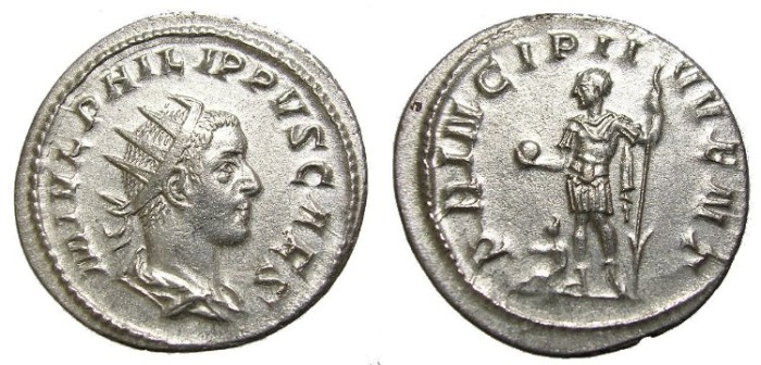 Ancient Coins - PHILIP II,  A .D. 247-249  ANTONINIANUS.  GREAT  QUALITY.