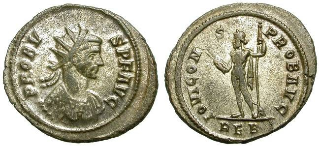 """Ancient Coins - PROBUS. AE ANTONINIAN. NICE VF. SILVERING REMAINING. """"EQUITI"""" SERIES FOR ROME"""