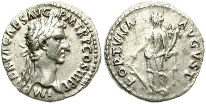 Ancient Coins - NERVA. SILVER DENARIUS. ATTRACTIVE PORTRAIT