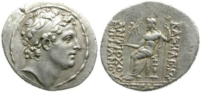 Ancient Coins - ANTIOCHOS IV. TETRADRACHM. SELEUCID KINGDOM. WONDERFUL PORTRAIT