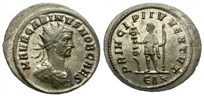 Ancient Coins - CARINUS. BILLON ANTONINIANUS.  ROME MINT. ATTRACTIVE ISSUE