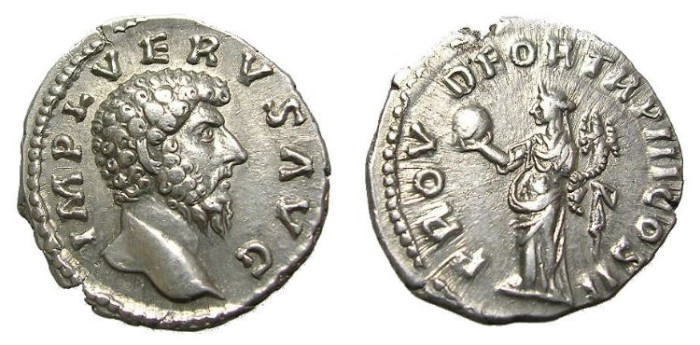 Ancient Coins - LUCIUS  VERUS  DENARIUS.  WELL  STRUCK.