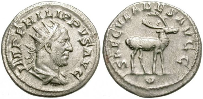 Ancient Coins - PHILIP I. AG ANTONINIAN. BEAUTIFUL REVERSE. 244 - 249  A. D.