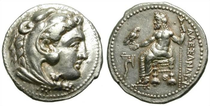 Ancient Coins - ALEXANDER THE GREAT. LIFETIME TETRADRACHM. TARSOS. NICE! /3