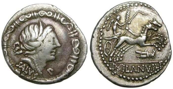 Ancient Coins - ROMAN REPUBLIC. DENAR. RARE IUNIA VARIETY