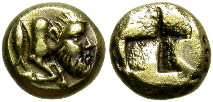 Ancient Coins - KYZICOS, MYSIA. ELECTRUM HEKTE. ACHELOOS. EXTREMELY RARE
