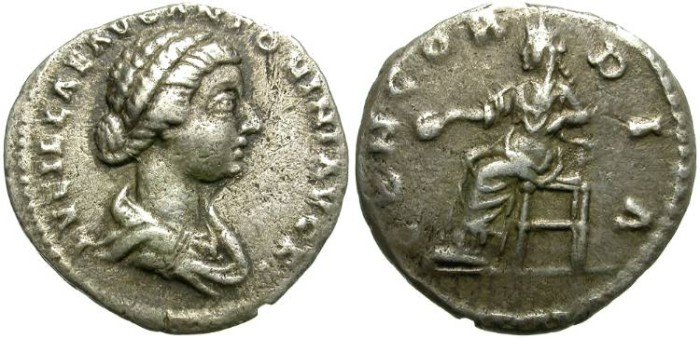 Ancient Coins - LUCILLA. SILVER DENARIUS. INTERESTING PORTRAITURE