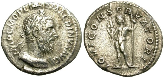 Ancient Coins - MACRINUS.  AD.217 - 518.  SILVER DENAR. ROME MINT. GOOD QUALITY FOR THAT PRICE.