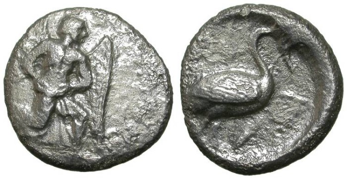 Ancient Coins - MALLOS, CILICIA. STATER. LOW CONDITION BUT VERY RARE !