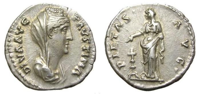 Ancient Coins - FAUSTINA I  DENARIUS. GREAT QUALITY.
