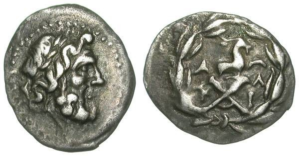 Ancient Coins - GREECE. ACHAIAN LEAGUE. TETROBOL. VF. ATTRACTIVE ISSUE