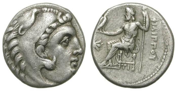 Ancient Coins - PHILIPP III AHRRIDEUS. DRACHM. HALF BROTHER OF ALEXANDER THE GREAT