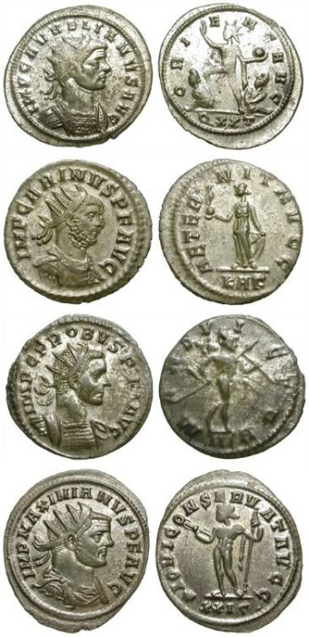 Ancient Coins - LOT OF 4 AE ANTONINIANI IN GREAT CONDITION