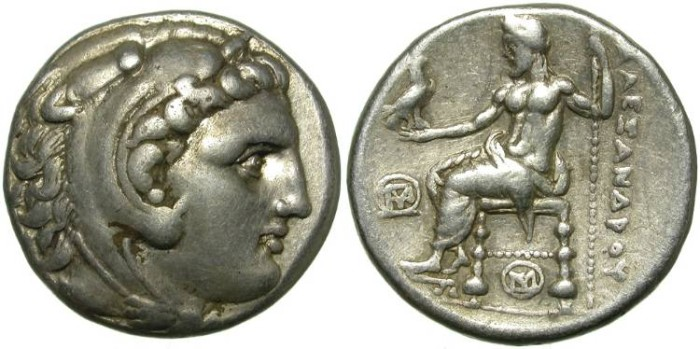 Ancient Coins - ALEXANDER THE GREAT. TETRADRACHM. TYRE, PHOENICIA