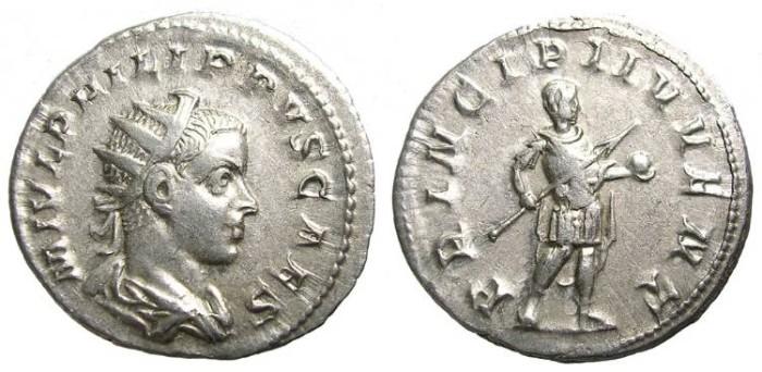 Ancient Coins - PHILIP  II  ANTONINIANUS.  GOOD  QUALITY.