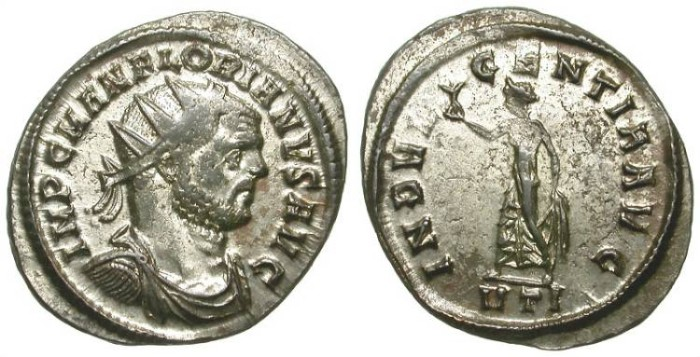 Ancient Coins - FLORIAN. AE ANTONINIANUS. SOME STRIKING FLATNESS BUT AMAZING CONDITION