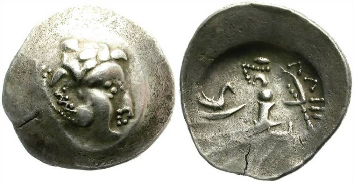 Ancient Coins - CELTIC IMITATION FOR ALEXANDER THE GREAT SILVER TETRADRACHM. ABSTRACT !