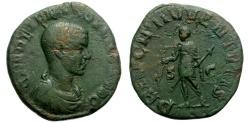 Ancient Coins - HERENNIUS ETRUSCUS, AD 250-251. SESTERTIUS. ROME. RARE. ATTRACTIVE.