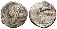 Ancient Coins - ROMAN REPUBLIC. SILVER DENARIUS. MARCIA 19. RARE VARIANT. C. CENSORINUS
